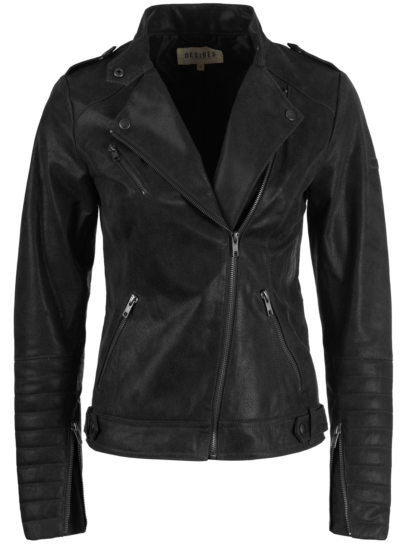 desires zalla damen lederjacke biker jacke rauleder ebay. Black Bedroom Furniture Sets. Home Design Ideas