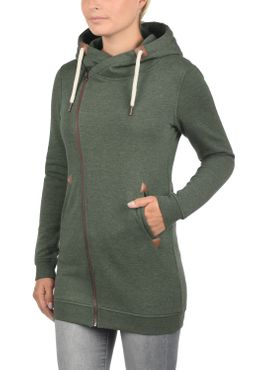 DESIRES Vicky Zip Hood Long Sweatjacke – Bild 7