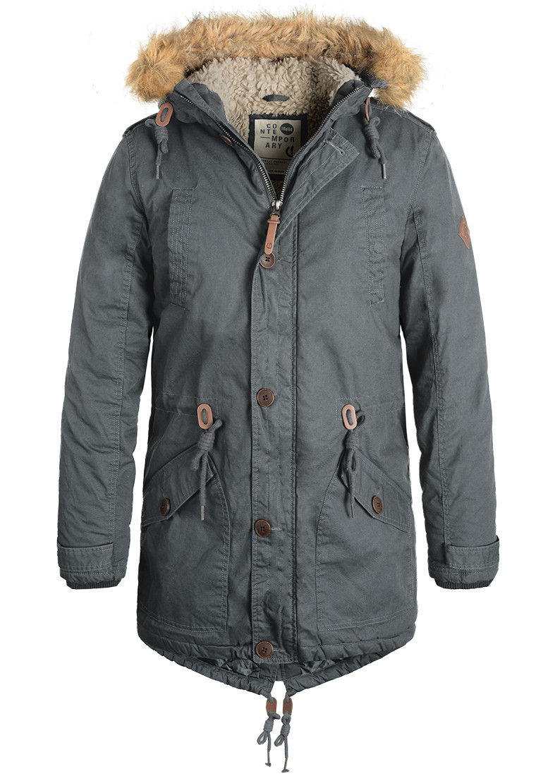 solid clark teddy herren parka winterjacke teddyfutter fellkapuze ebay. Black Bedroom Furniture Sets. Home Design Ideas
