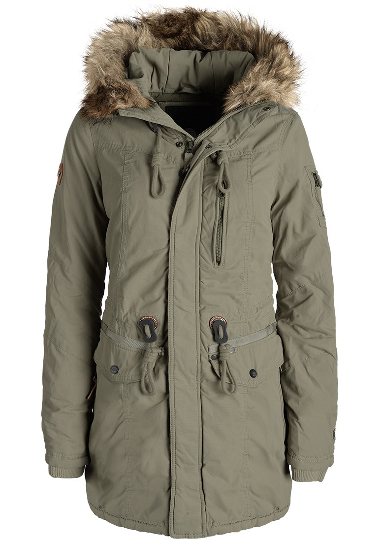 khujo eivola damen parka winterjacke fellkapuze ebay. Black Bedroom Furniture Sets. Home Design Ideas